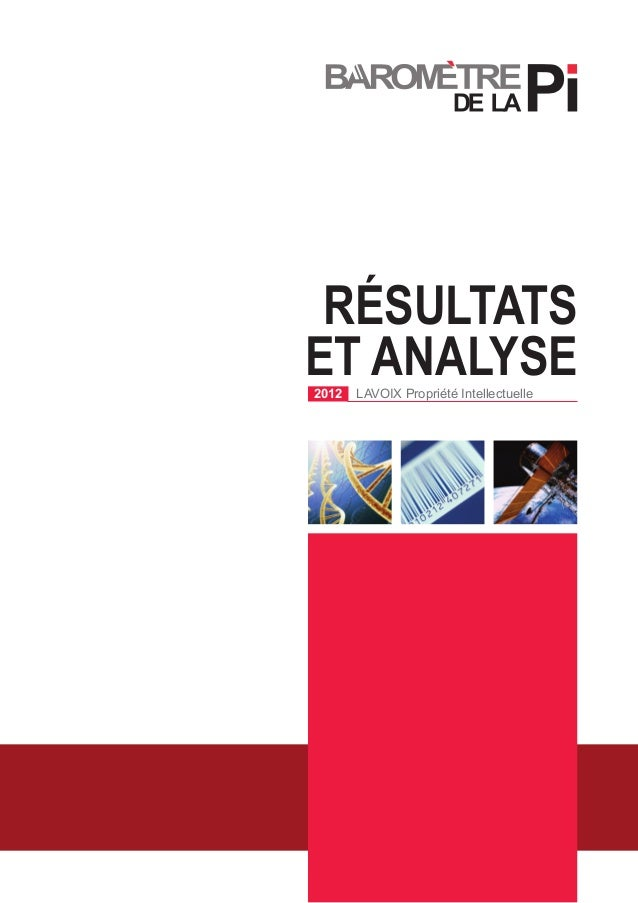 Résultats et Analyse2012 LAVOIX Propriété Intellectuelle