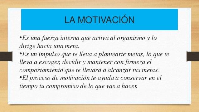 La Voluntad Y La Motivación Personal