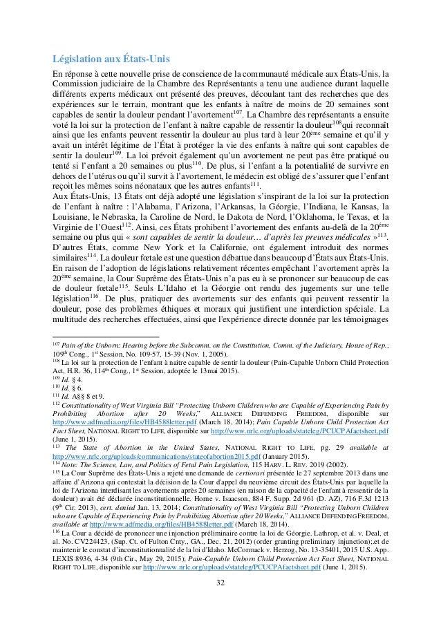 L'avortement tardif et les infanticides néonataux en europe, eclj, 26 juin 2015