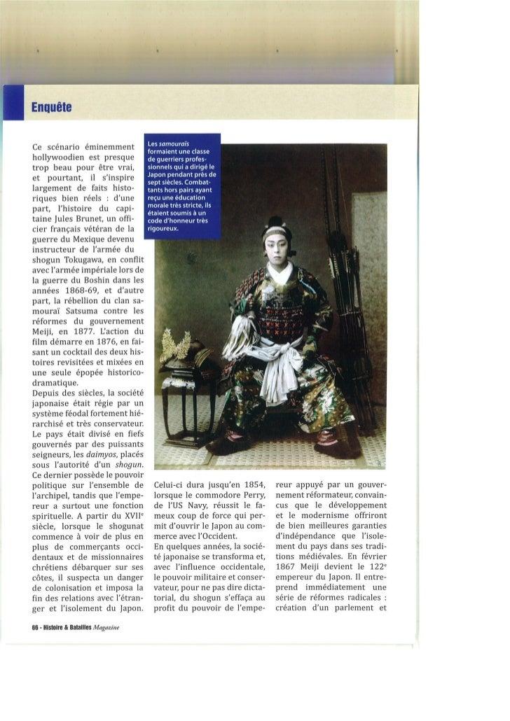 La véritable histoire du dernier samourai