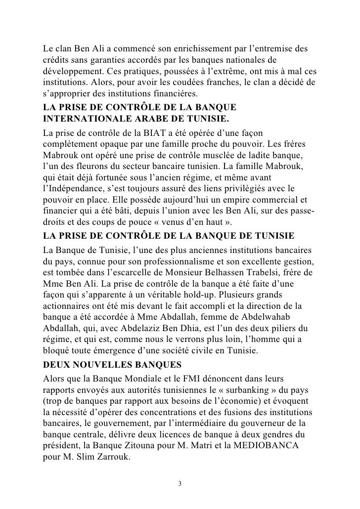 La v ritable nature du r gime de ben - Grille de salaire secteur bancaire tunisie ...