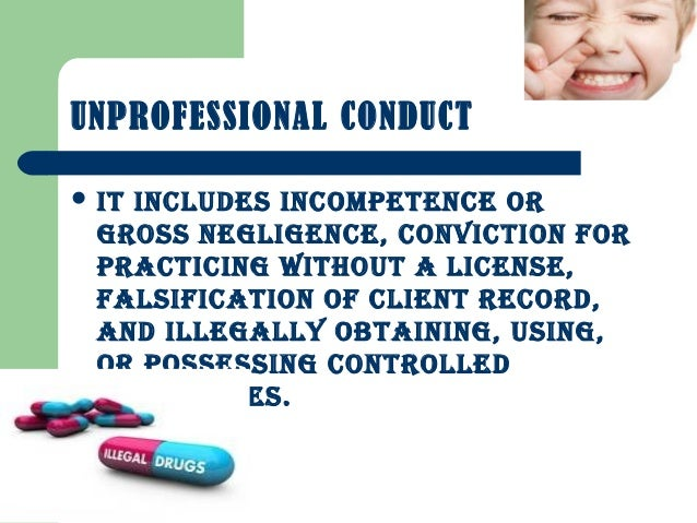 unprofessional conduct §49923 unprofessional conduct effect on licensee or registrant 72 §499233 decision containing finding that licensee or.
