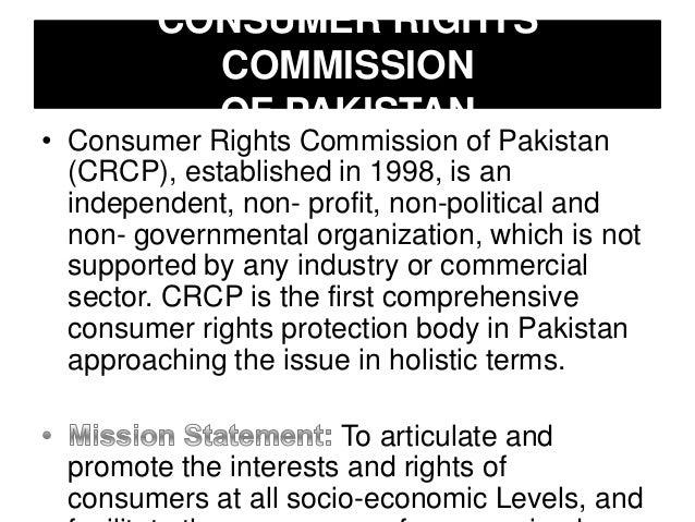 Consumer protection legislation in pakistan