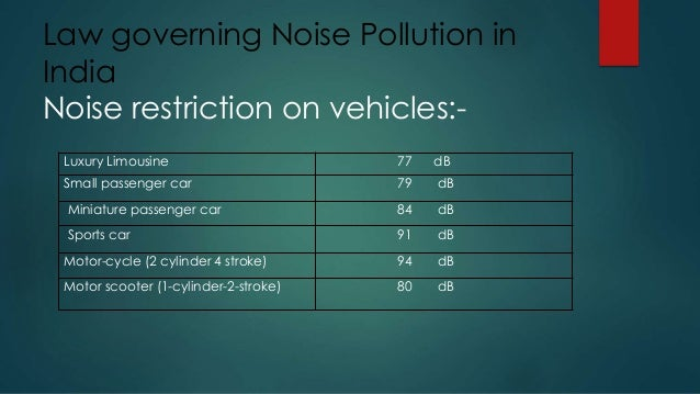 noise pollution and the associated laws in trinidad Ian kevin ramdhanie, msc, principal, cisps no doubt, t&t had and continues to have problems of noise pollution be it from neighbourhood and domestic sources, to cultural events, business enterprises, road traffic, industrial and even agricultural t.