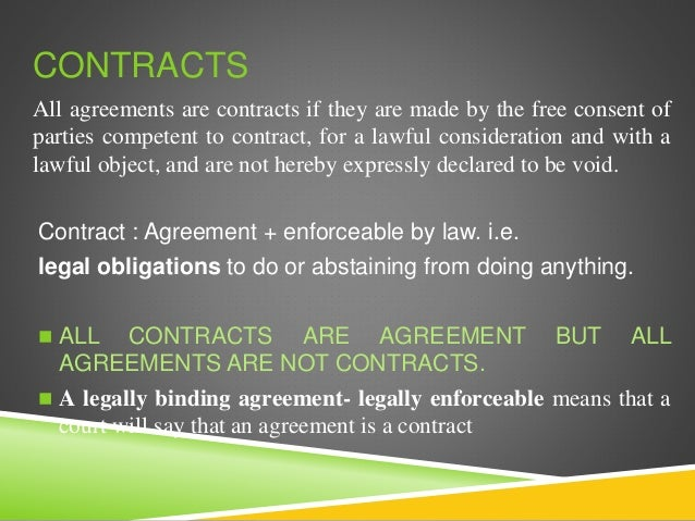 All contract are agreement but not justify the best agreement of 2018 chapter 7 contracts clification agreement and consideration contracts all agreements platinumwayz