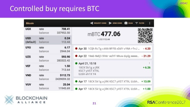#RSAC Controlled buy requires BTC 21 ...