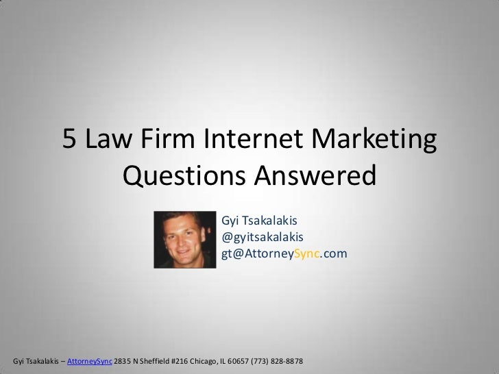 5 Law Firm Internet Marketing                  Questions Answered                                                         ...