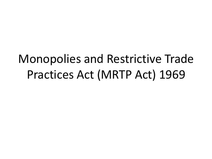 Difference Between MRTP Act and Competition Act