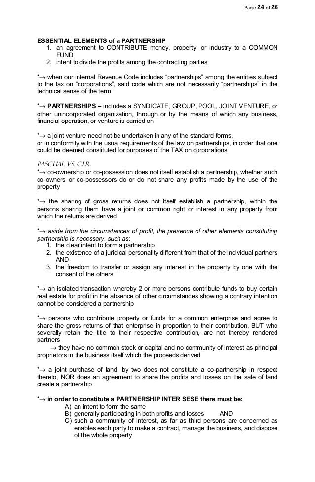 Partnership Law – Real Estate Partnership Agreement
