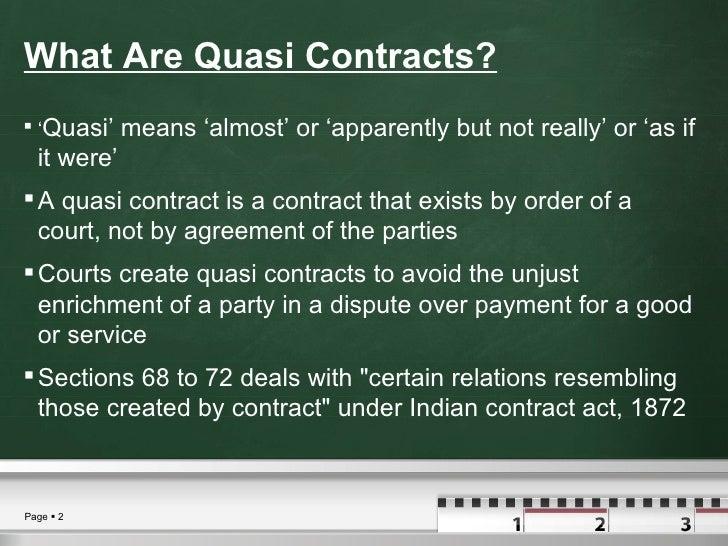 quasi contract definition