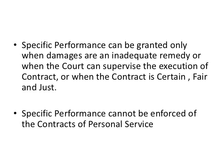 Law Remedies For Breach Of Contract