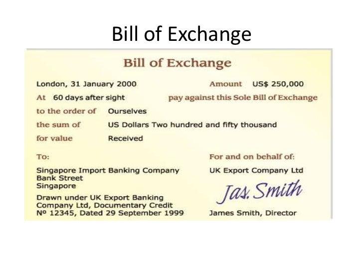 Bill Of Exchange; 20.  Bill Of Exchange Sample