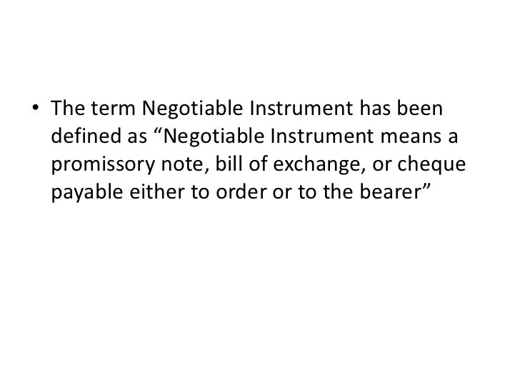 Law  the negotiable instruments act 1881 Slide 3