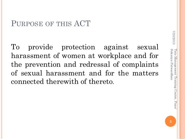 Anti sexual harassment committee definition