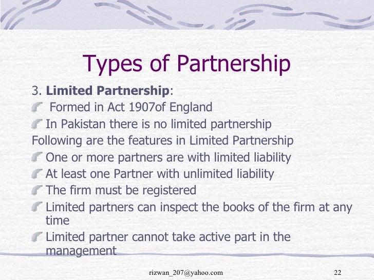 Sample limited partnership business plan.