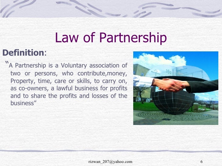 Business Law, Law of partnership
