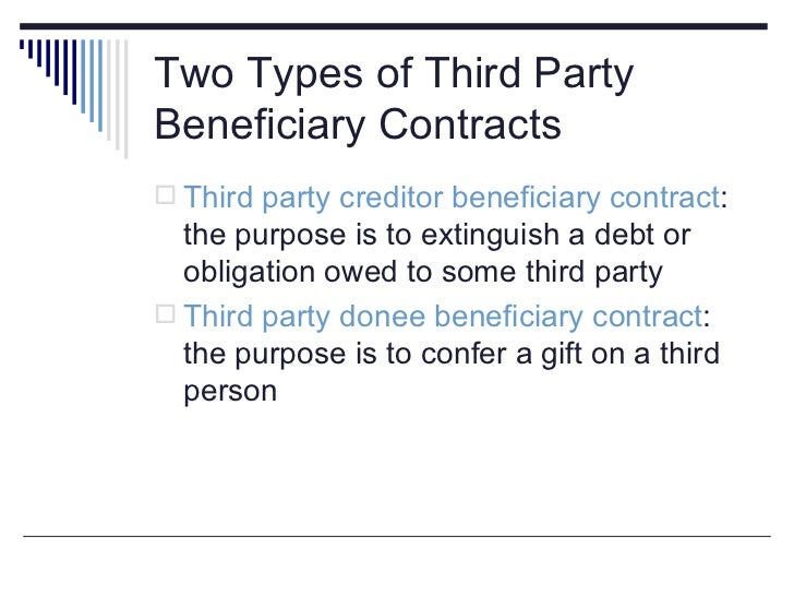 Law 206 Ch 9 Third Party Contracts