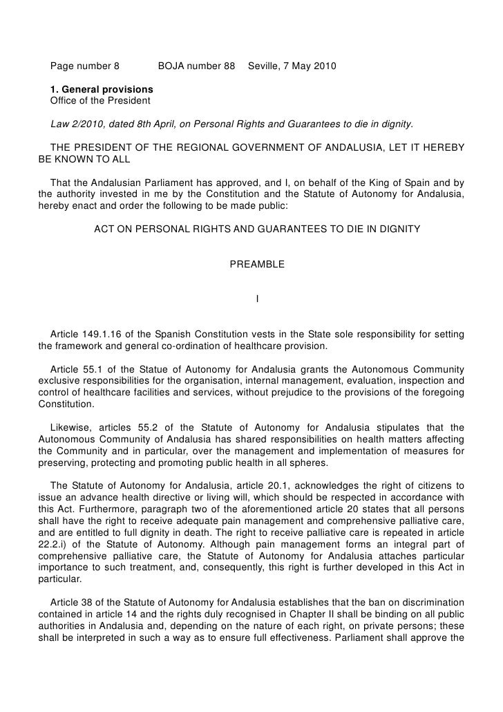 Page number 8             BOJA number 88        Seville, 7 May 2010  1. General provisions  Office of the President  Law 2...