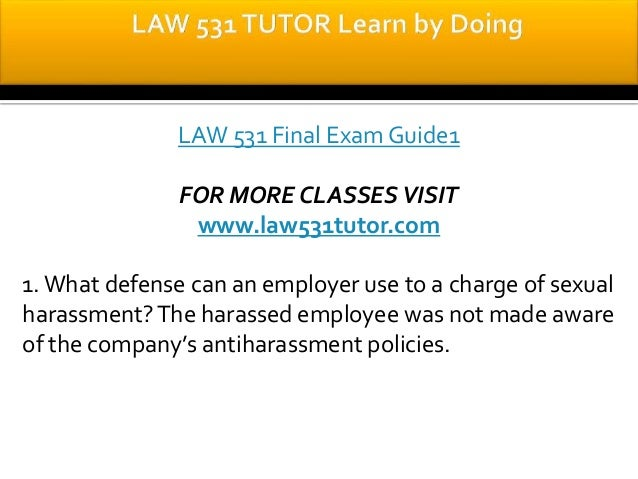 LAW 531 Week 4 Quiz or Knowledge Check Assignment