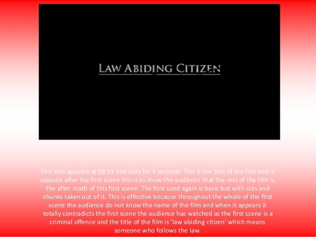 what does law abiding citizen mean