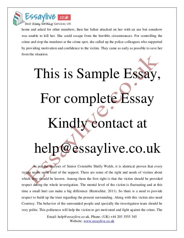 Law Analysis of Criminal Case Essay Sample