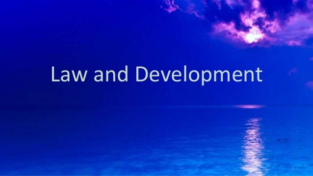 Law and Development 1