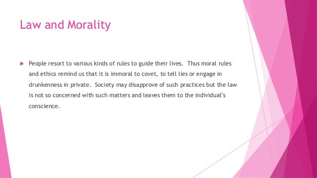 jurisprudence law and morality relationship