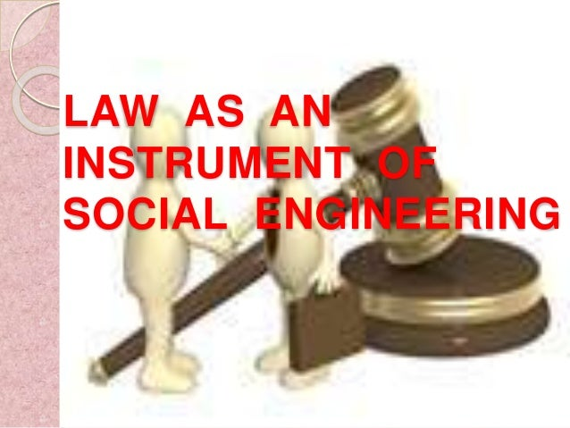 Law can be an instrument of social change