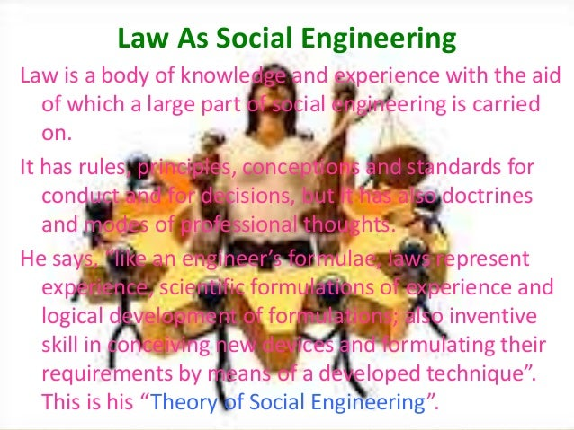 law social engineering But the models may hide rather than reveal the deepest sources of social the limits of social engineering be nervous about this sort of social engineering.