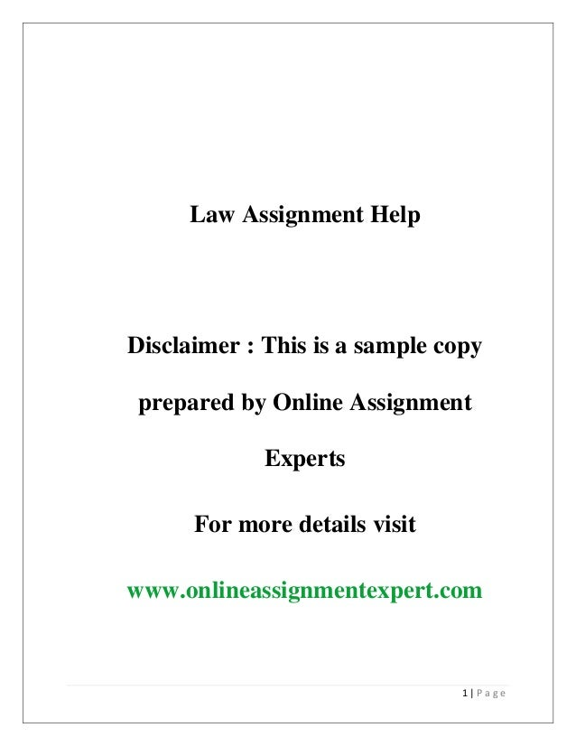 Law Assignment Help – Topics Where Students Often Require Subject Experts Help