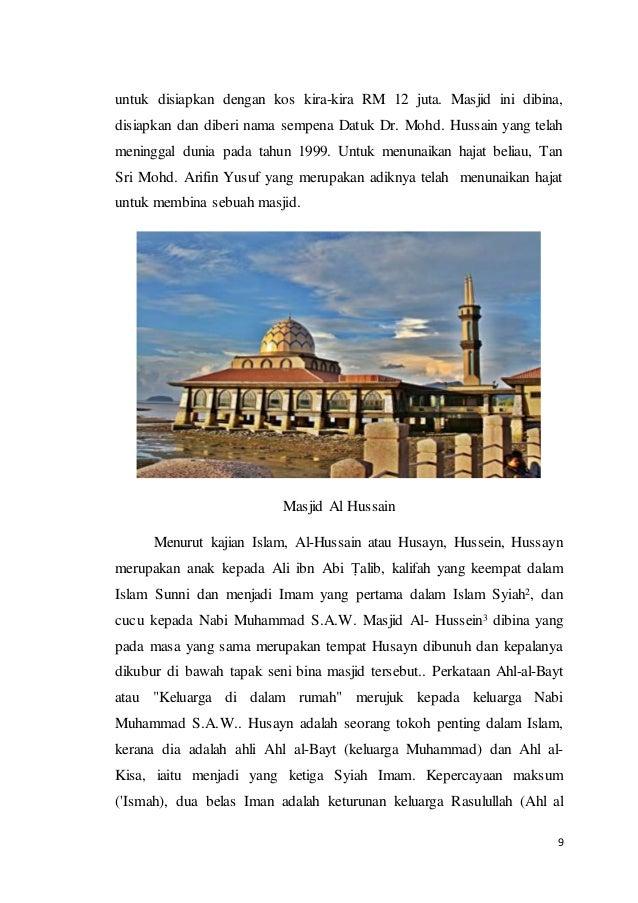 Dapatan Kajian Lawatan Ke Masjid Al Hussein Perlis