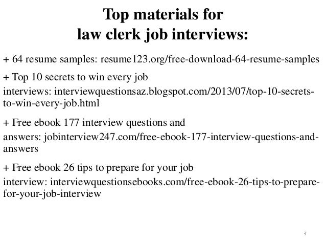 2 3 Top Materials For Law Clerk