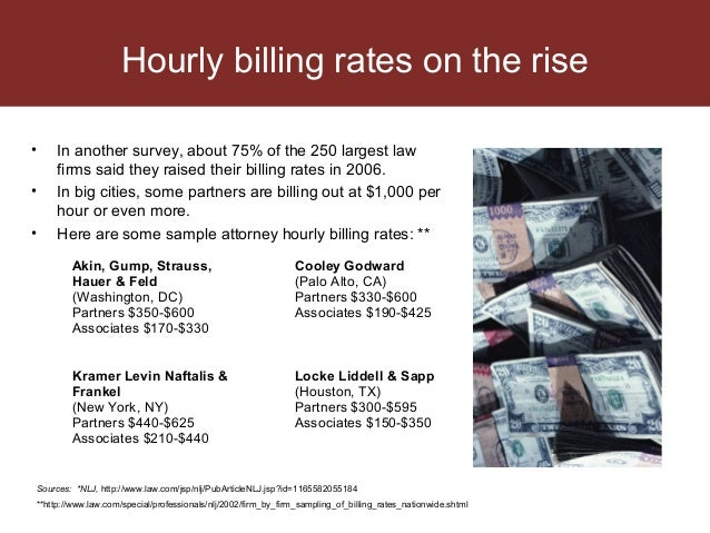 American Lawyer Billing Rates