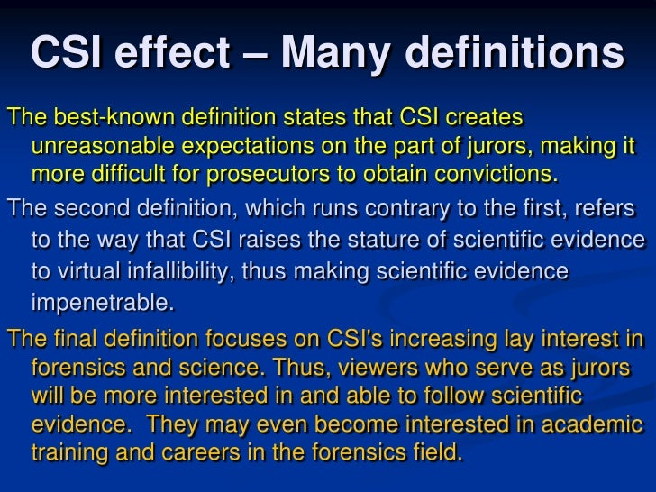 Csi effect dissertation