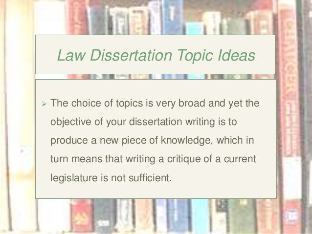 business law dissertation topics