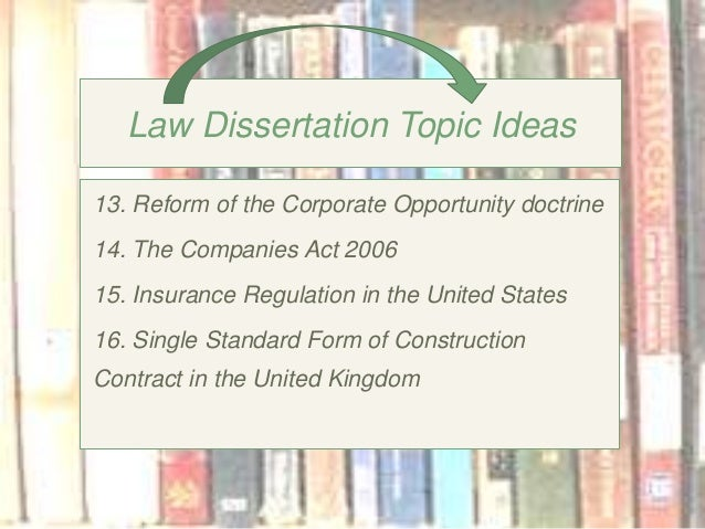 20 Business Law Dissertation Topics