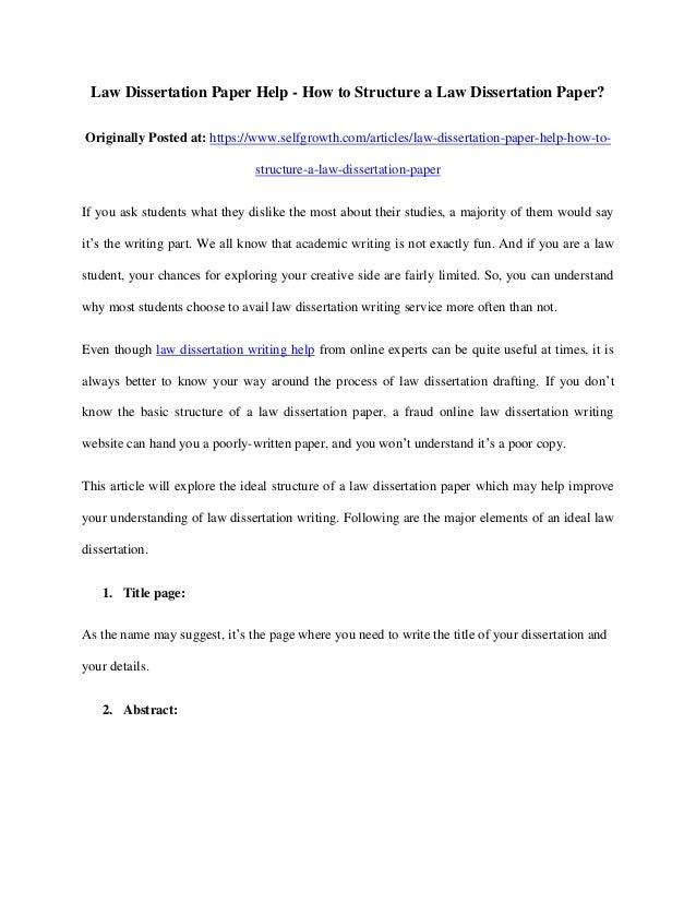 law dissertation ideas