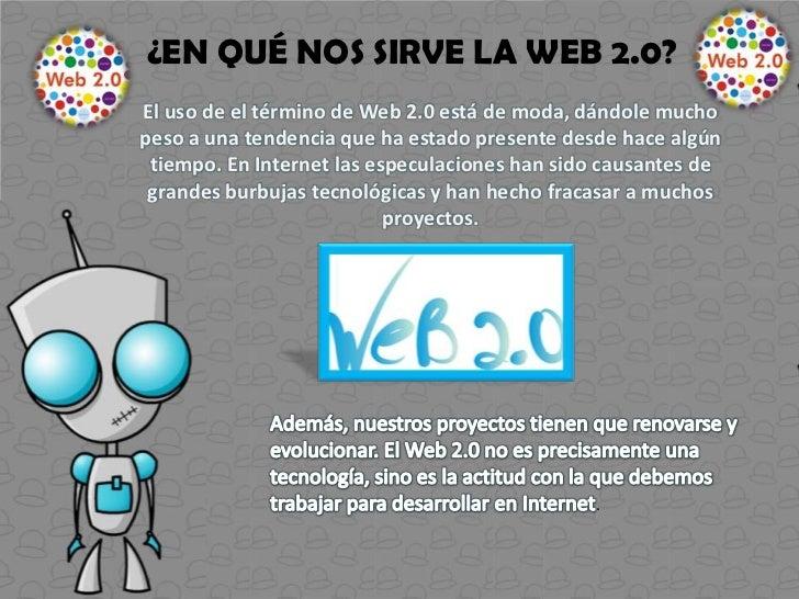 Web 3.0 es una expresión que se utiliza paradescribir la evolución del uso y la interacción de laspersonas en internet a t...