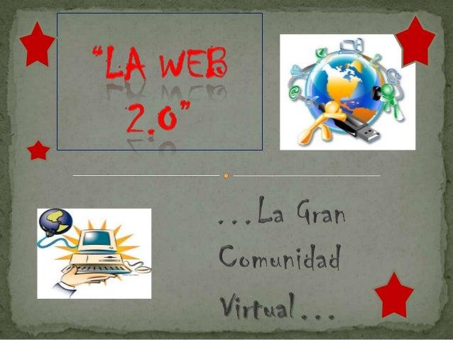 @ Un sitio Web 2.0 permite a los usuarios interactuar ycolaborar entre sí como creadores de contenidogenerado por usuarios...