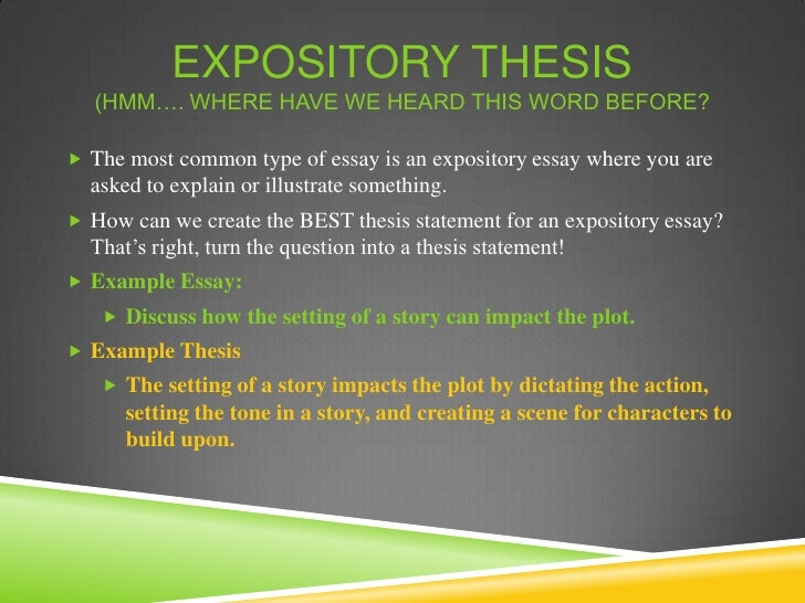 creating a thesis statement for an expository essay Expository thesis statement examples of thesis statement for an expository essay.