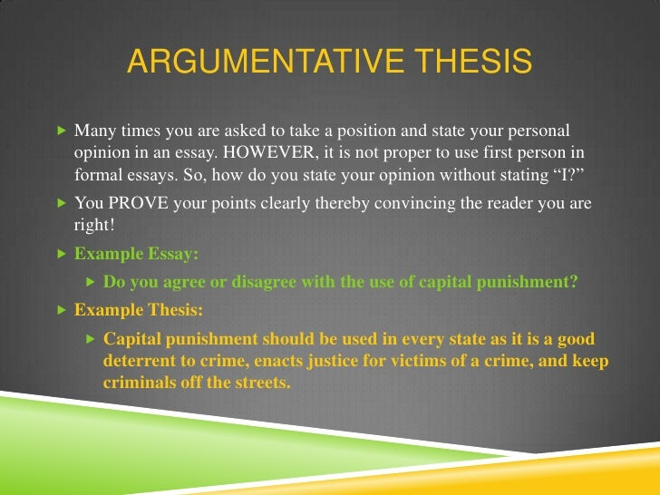 Capital punishment argumentative essay