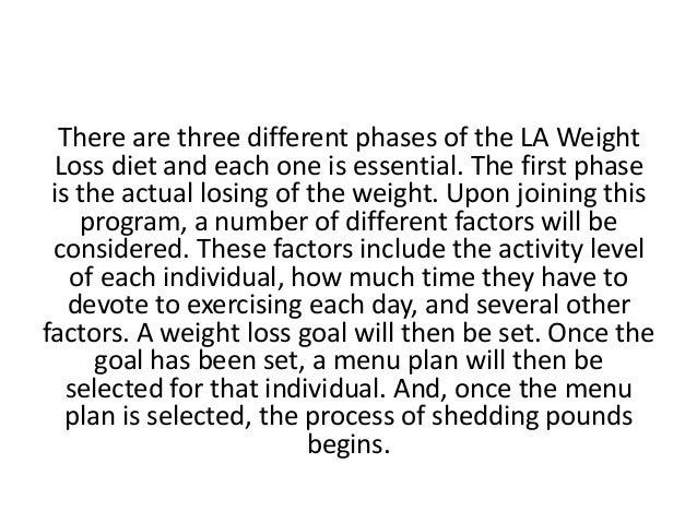 la weight loss plan colors
