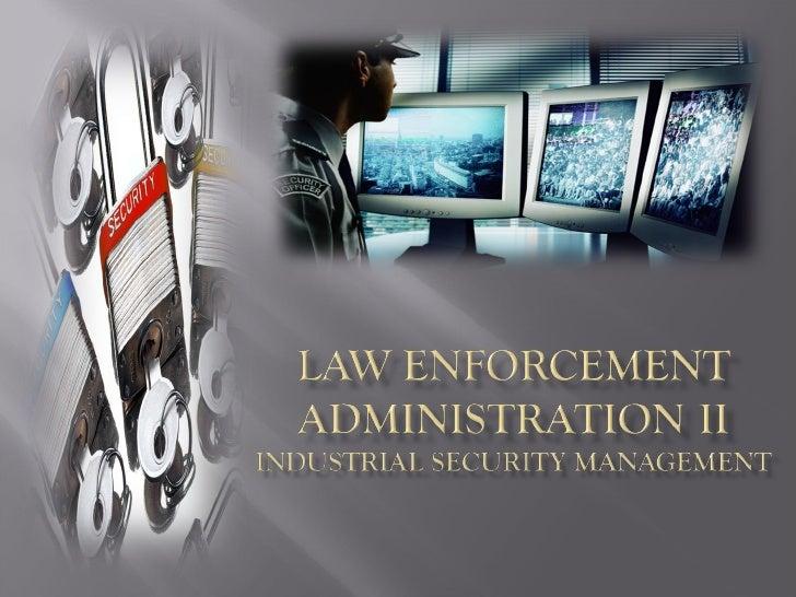 Law Enforcement Administration II