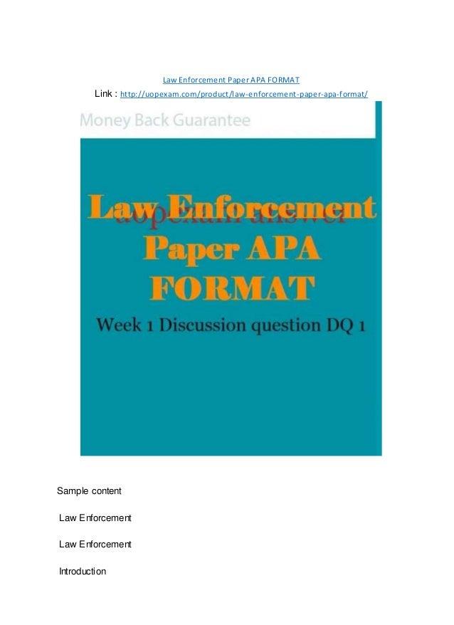 law enforcement paper apa format 2015 version