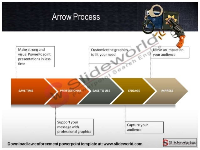 law enforcement powerpoint template slide world