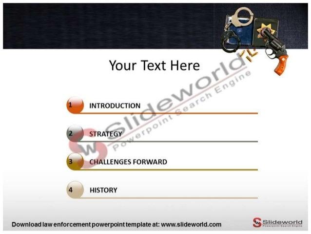 law enforcement powerpoint template - Slide World
