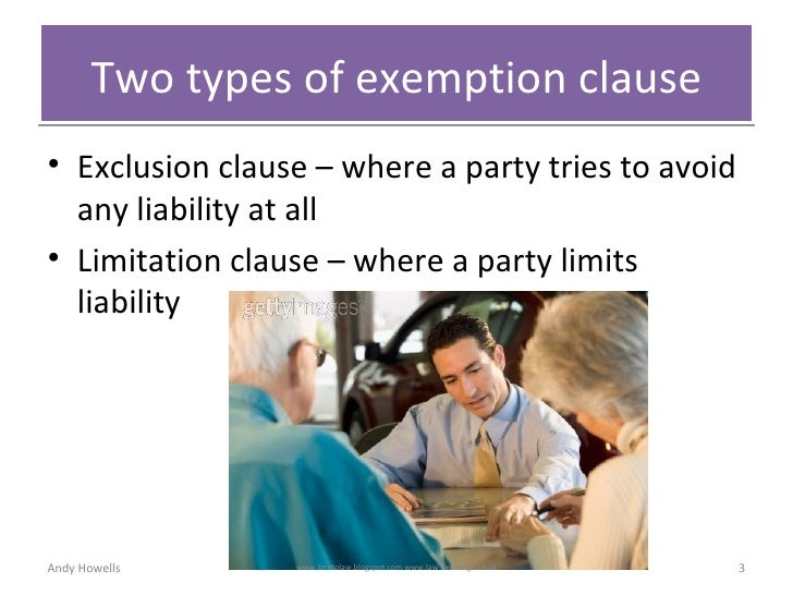 types of exclusion clause A guide to aviation insurance the principal insurance coverages, all of which exclude war risks (through exclusion clause avn48b), are.