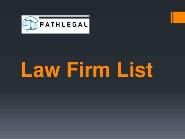 Law Firm List