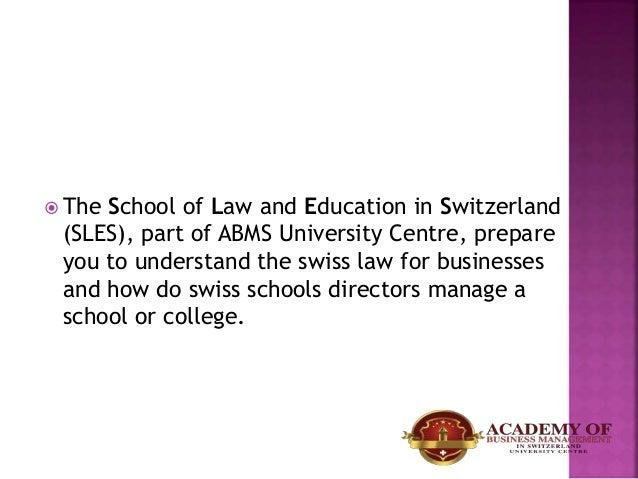 Law in abms switzerland university Slide 2
