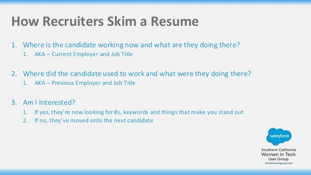 resume writing for salesforce professionals